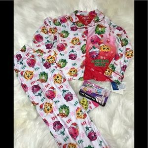 Girls Shopkins Christmas pajama set, 8